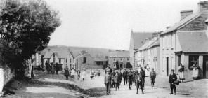 Cilgerran High Street, taken in 1905.