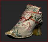 Brocaded silk shoe, 18th century