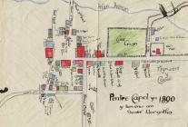 Map of Llangeitho 1890