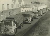 Foden lorry fleet, aluminium works, Dolgarrog