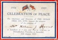 Ocean Coal Company Peace Celebration Dinner Ticket