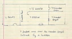 Sketch plan of Cae'r gors drawn by Kate...