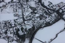 Llanddewi Brefi in the snow