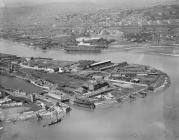 Newport Docks: Town Dock, 1921