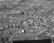 Aerial photograph showing Swansea in 1968