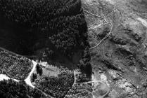Ystrad Einion metal mine from the air