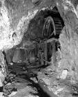 Underground wheel at Ystrad Einion metal mine