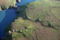 Aerial view showing field systems on Skomer Island