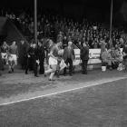 John Charles leading Cardiff out to Farrar Road