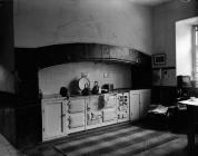 Kitchen at Faenol Fawr, 1954