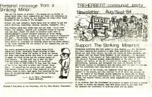 Support the Striking Miners! Treherbert 1984