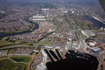 Aerial view of Cardiff, 2006