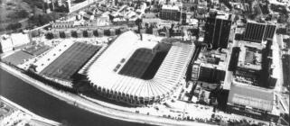 The newly modernised Cardiff Arms Park, 1984