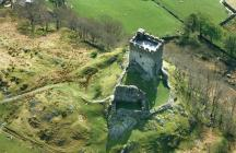 Aerial view of Dolwyddelan Castle, 1994