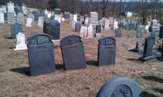 Slate headstones, Slateville Cemetery