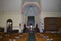 Interior of Rehoboth Welsh chapel, Delta, PA.