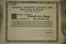 General Nursing Certificate 1925