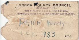 World War II Evacuation Tag 1932