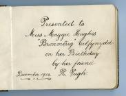 Autograph album, 1912