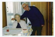 Edith Barry celebrating her 80th birthday