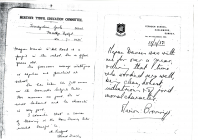 Letter supporting Megan Davies' application