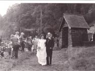 Wedding at Holy Trinity Church, Corris