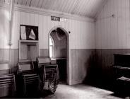 Christ Church interior (Capel Zinc), Upper Corris