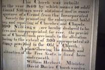 Notice in Llansantffraed Parish Church