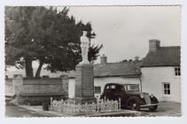 Postcard of the War Memorial, Llangeitho