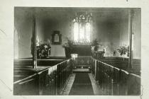 Llansantffraed Parish Church Interior c 1900