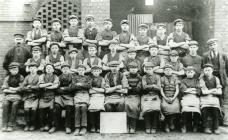 Photograph of workers at Kidwelly Tinplate Works