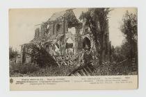 Postcard of Frise village church, 1914-1916,...