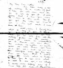 Photocopy of the last letter sent by Second...