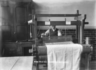 Wrexham Eisteddfod, weaving demonstration, 1912
