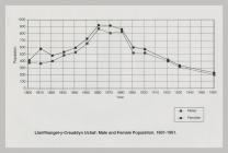 Llanfihangel-y-Creuddyn Population statistics...