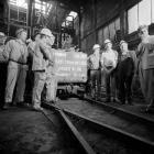 Last tram of coal raised in the Rhondda, 1986