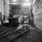 Pit bottom downcast, Maerdy Colliery, 1975