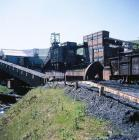 General view of Maerdy Colliery, 1975