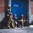 Three colliers, Maerdy Colliery, 1986-87