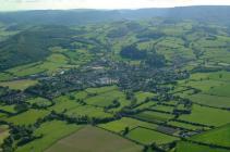 Aerial view of Presteigne, 2004