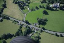 Aerial photo showing Llanhamlach