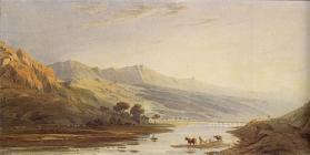 Cader Idris, a watercolour by John Varley in...