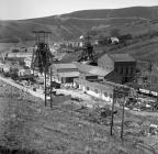 Garw Colliery in 1977, with village in the...
