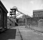 Ffaldau Colliery, 1977, the pit head.
