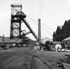 Cefn Coed Colliery, 1973, engine house and...