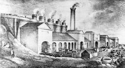 Abersychan Ironworks shown here in 1866 was...