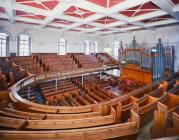 Interior view of Tabernacle Chapel, Aberystwyth.