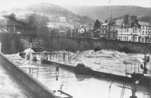 Llangollen. Floods of 1960s