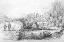 Sketch of Plymouth Lodge, Merthyr, by Emma...