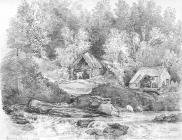 Sketch of Cwm Dare, by Emma Bacon, 19th century